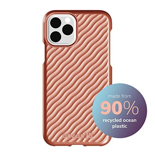 Ocean75 Umweltfreundlich Designed für iPhone 11 Pro Hülle, Ozean-inspirierte nachhaltige Handyhülle aus recycelten Fischernetzen - Koralle Pink