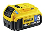 Dewalt DCB184B-XJ DCB184B-XJ-Batería Carril XR 18V Li-Ion 5,0Ah con Bluetooth, 0 W, 18 V, Negro