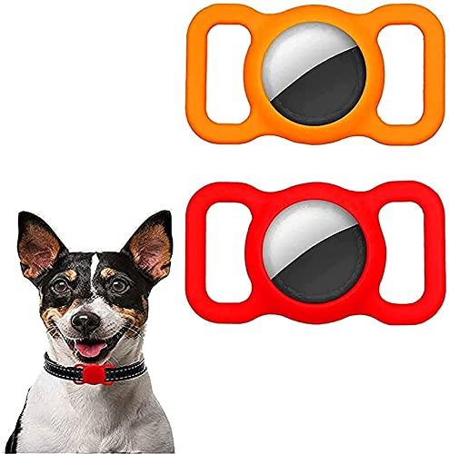 2 paczki silikonowe etui ochronne dla zwierząt, ochraniacz na obrożę dla zwierząt, regulowane śledzenie gps akcesoria dla psów i kotów Anti-lost Locator AirTags (Color : B)