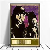 TanjunArt Mobb Deep Music Singer Poster Hip Hop Rap Music Band Star Poster Arte de la Pared Pintura Habitación Decoración para el hogar Impresión de Lienzo -50x70cm Sin Marco