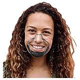 Kalkaly Mundschutz Transparent Gesichtsschutz Plexiglas Winddicht Staubdicht Gemütlich Mode Elegant (Schwarz)
