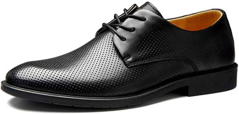 Sommer Business Schuhe aus echtem Leder Männer Kleid Schuhe Schuhe Schuhe Party Hochzeit Farbe Schwarz  8dd7d6