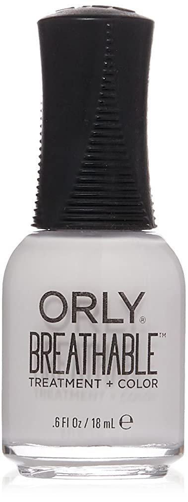 食べる強化摂氏度Orly Breathable Treatment + Color Nail Lacquer - Barely There - 0.6oz / 18ml