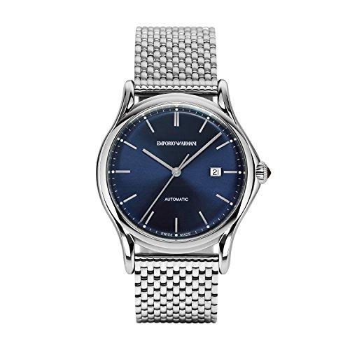 Emporio Armani Herren analog Automatik Uhr mit Edelstahl Armband ARS3022