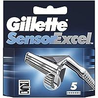 Gillette Sensor Excel Hojas De Afeitar Para Hombre, 5 Unidades