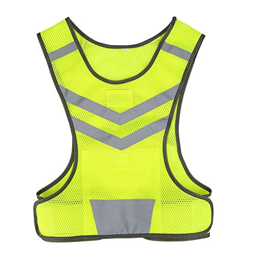 Dwawoo reflecterend vest, hardloopvest, hoge zichtbaarheid, fluorescerende reflecterende loopkleding, veiligheidsvest voor joggen in de open lucht, fietsen, hardlopen, motorfietsen