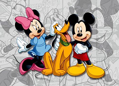 1art1 Micky Maus - Minnie Maus Und Pluto, Beste Freunde Fototapete Poster-Tapete 160 x 115 cm