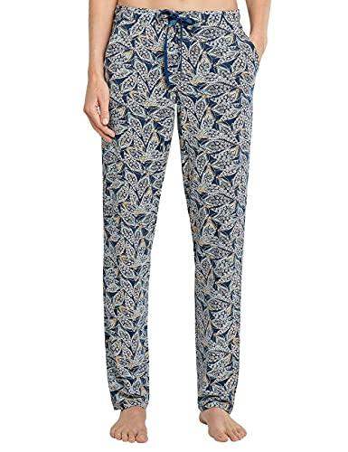 Schiesser Damen Mix + Relax Jerseyhose lang Pyjamaunterteil, Petrol, 44