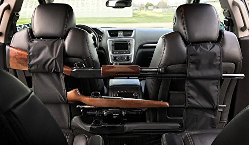 PRETTYGAGA Car Concealed Seat Back Gun Rack to Hold 3 Rifles