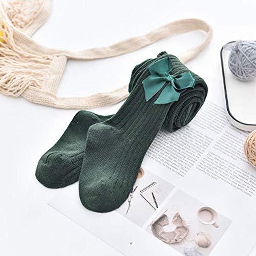 GLBS Bow Printemps Eté Coton Fille Bébé Collants Bas Tricot Confortable Nouveau-né Collants De Haute Qualité Couleur Solide Leggings Bébé for L'âge 0-6 Ans (Color : Green, Size : 2-4years)