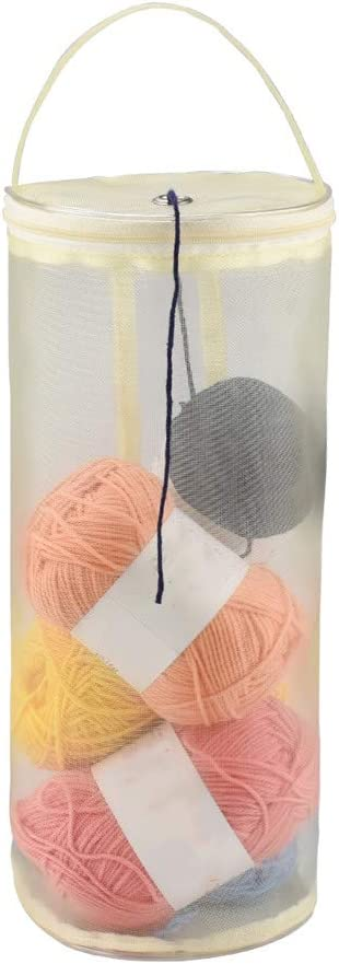 Katech Yarn safety Storage Bag Round Empty Case Raleigh Mall Mesh Portable Knit