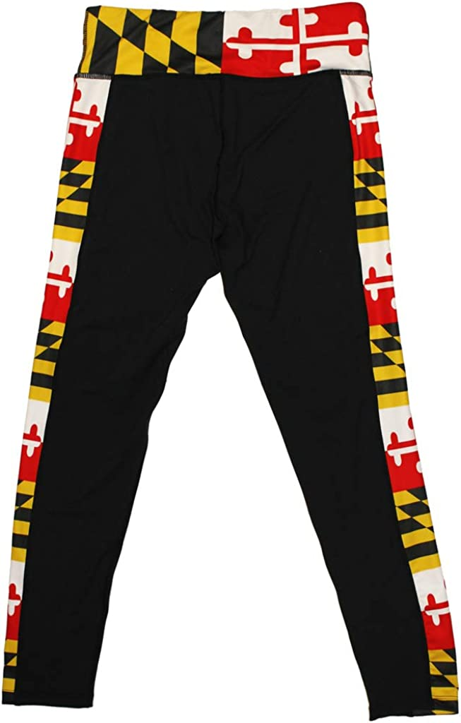 Route One Ranking TOP18 Apparel Maryland Leggings with Black Patt Max 58% OFF Flag Side