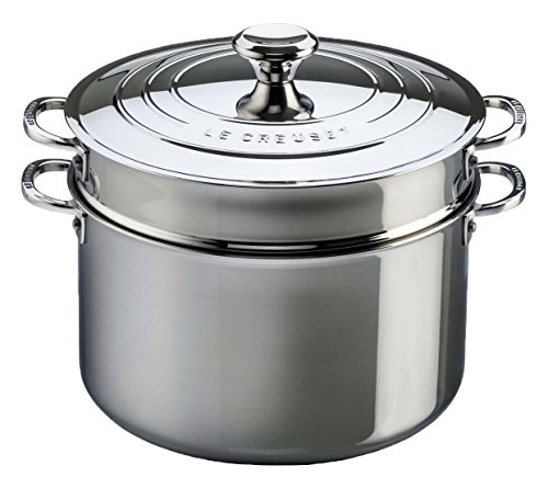 Le Creuset Tri-Ply Stainless Steel Stockpot, 9 qt.