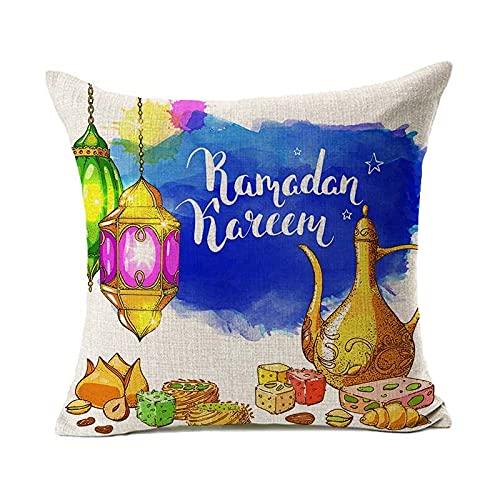 Funda De Almohada Decorativa Moon Lantern, Algodón, Lino, Funda De Almohada para El Hogar, Funda De Cojín para Asiento De Oficina, Material Lavable