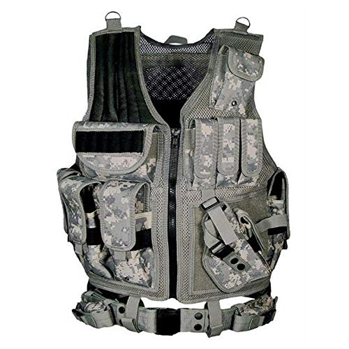 tactical vest for women Lixada Tactical Vest Adjustable Molle Military Airsoft Paintball Vest Assault Swat Vest Breathable Combat Training Vest for Outdoor Hunting, Fishing, CS War Game