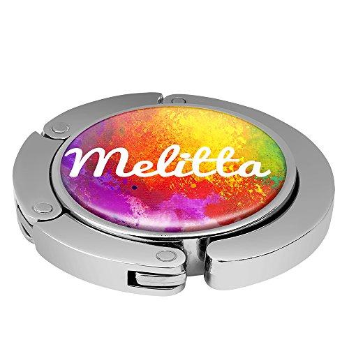 Taschenhalter Color Paint Personalisiert mit Namen Melitta printplanet Chrom