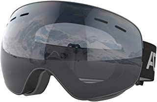 ACURE SG01 Ski Goggles - OTG Frameless Snow Snowboard Goggles, Dual Lens with Anti Fog & UV400 Protection for Man, Woman & Youth