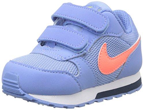 Nike MD Runner 2 (TDV), Zapatos de recién Nacido Unisex niños, Azul (Chalk Blue/Bright Mango Obsdn), 22 EU