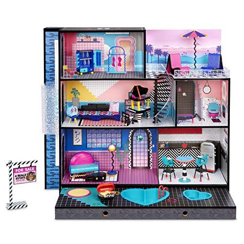 LOL Surprise OMG House with Doll, 3-stöckiges Spielzeughaus aus Holz mit über 85 Überraschungen und exklusiver Puppe