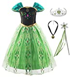KABETY Filles Princesse Anna Robe Reine des neiges Costume Robe de soirée Elsa Costume...
