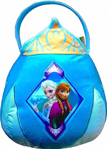 Disney Frozen Elsa Anna Plush Treat Basket - Easter or Halloween