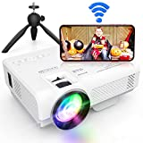 """[WiFi Projector] XPrime 7500Lumens Mini Projector, Full HD 1080P 200"""" Display Supported, Compatible with Smartphones, TV Stick, Video Games, DVD Player, HDMI/AV/VGA/USB for Outdoor Movies"""