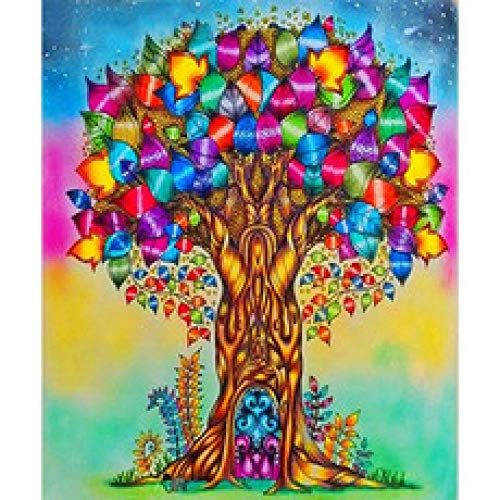 2000 Pieces of Puzzles, Puzzles for Intellectual Games, Puzzles for Adults, Classic Puzzles, DIY Puzzle Decoration for Children's Gifts (Painted Trees)