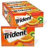 Trident Tropical Twist Sugar Free Gum, 12 Packs of 14 Pieces (168 Total Pieces) from Mondelez International