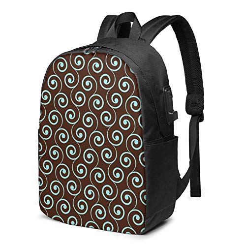 XCNGG Floral Art Travel Laptop Backpack College School Bag Casual Daypack with USB Charging Port