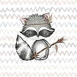 Süßes Waschbären Panel (medium) aus der Waldfreunde