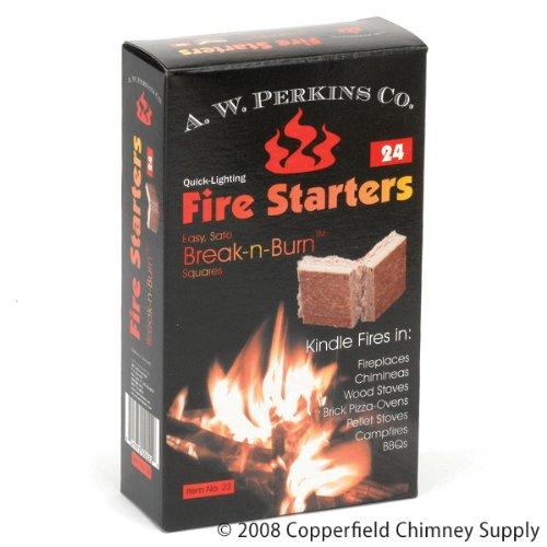AW Perkins Break-n-Brennen Feuerstarter Squares - 24 Plätze pro Karton