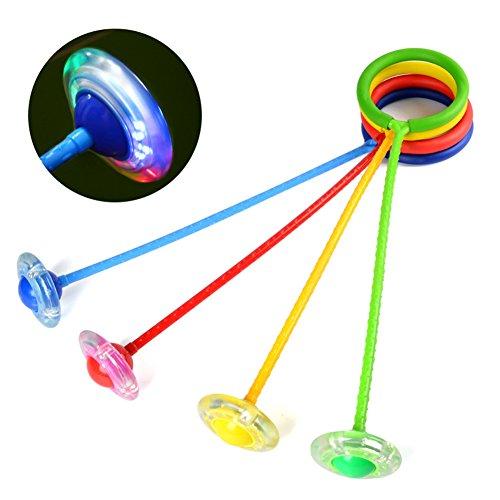 DSstyles Niños Intermitente Salto Anillo Colorido Tobillo Saltar Cuerdas Deportes Swing Bola Azul