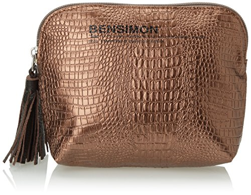 Bensimon New Pocket Fancy Croco, Damen Handgelenkstaschen, Gold (Or (Cuivre 745)), onesize
