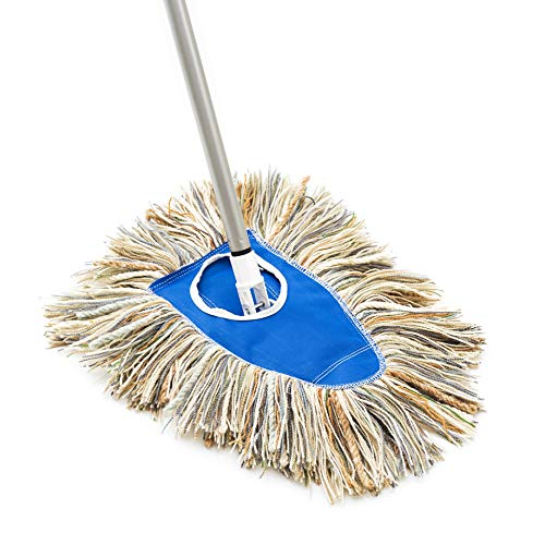Fuller Brush Wooly Yarn Dry Mop – Commercial Floor Dusting & Mopping Cleaner w/ Extension Handle & Washable Head for Floors and Furniture