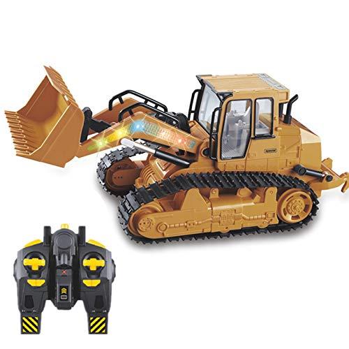 LJKD Excavadora retroexcavadora RC Totalmente Funcional de Canal, Tractor de construcción de Control Remoto RC eléctrico Alimentado por batería.