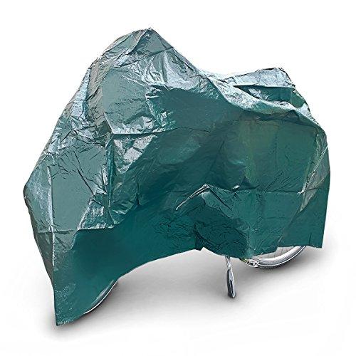 Relaxdays Fahrradgarage Kunststoff, stabile Schutzhülle, robust, wetterfeste Abdeckhaube für Rad, 220 x 120 cm, grün