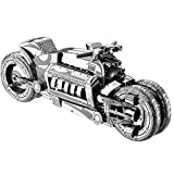 3D-Puzzle Metal of Concept Motocicleta Modelo Kits DIY Laser Assemble Gift, Jigsaw Toy for Boy