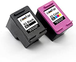 CSSTAR Remanufactured Ink Cartridge Replacement for HP 63 XL 63XL Combo Pack Use in Envy 4520 4522 4516 4512 OfficeJet...