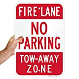 "SmartSign ""Fire Lane - No Parking, Tow-Away Zone"" Sign 
