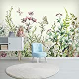 Qqasd Green Leaf Wallpaper Sala de estar TV Sofá Dormitorio Fondo Pared Murales Decoración Creativa-250X175CM