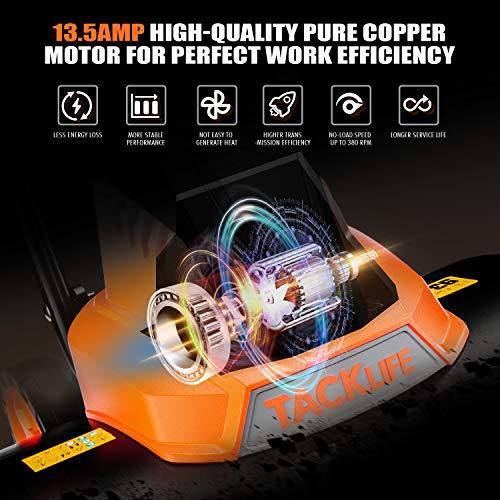 Advanced Tiller, 18-Inch Electric Tiller, 13.5 Amp, Removable Blade, Adjustable Working Width(18''/12.5''), 8'' Tilling Depth, Foldable Handle, Adjustable Wheels, Tiller Cultivator - TGTL01A