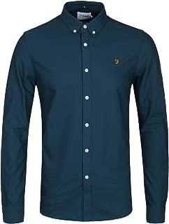 Atlantic Blue Brewer Long Sleeve Oxford Shirt