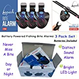 For must have fishing stuff grab this fish bite alarm set now. Great add to your catfishing tackle box for catfishing. Toss the fishing bells and never miss fish bites again. New in Pesca Accessories.