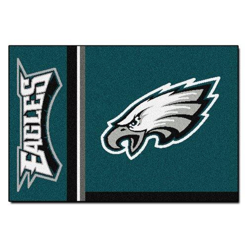 """FANMATS 8246 NFL Philadelphia Eagles Nylon Face Starter Rug,Team Color,19""""x30"""""""