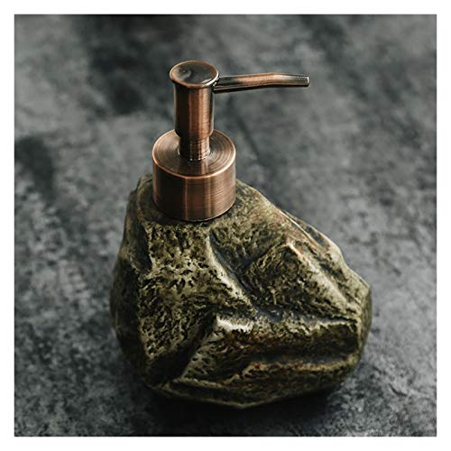 YHYH dispensador de jabón Dispensador de jabón de Piedra Creativo Dispensador de loción Manual Bomba de loción de encimera Retro Recipientes de Regalo de Cocina (Color : Soap Dispenser A)