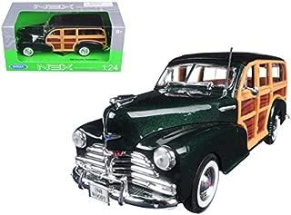 Maisto 1948 Chevrolet Woody Wagon Fleetmaster Green 1/24 Model Car by Welly