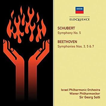 Schubert: Symphony No. 5; Beethoven: Symphonies Nos. 3, 5 & 7
