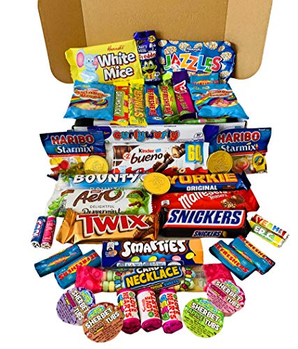 A Taste of Selection Sweet Treats Gift Box - Selection Hamper of Your Favourite Chocolate Bars and Retro Sweets - Perfect for a Gift and for Sharing at Any Occasion