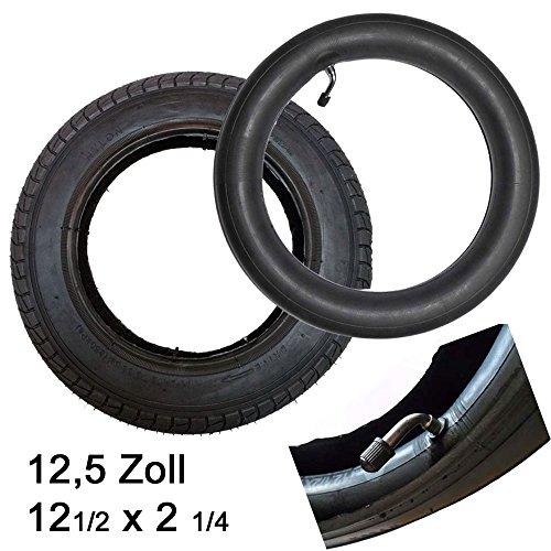Reifen Mantel + Schlauch mit Winkelventil 12 1/2 x 2 1/4 Zoll 57 x 203 Profil A