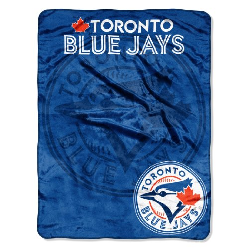 Officially Licensed MLB Toronto Blue Jays 'Triple Play' Micro Raschel Throw Blanket, 46' x 60', Multi Color